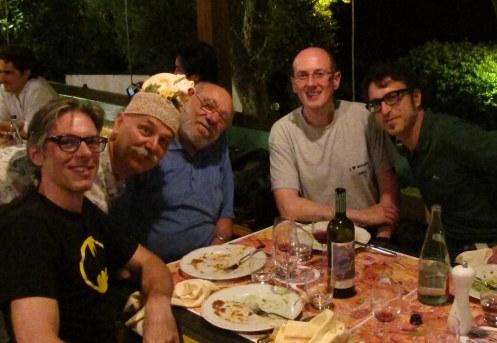 Da sinistra a destra: leo, Fausto, Carlo, Tom, Cammo.